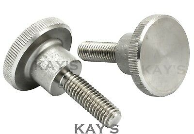 Knurled Thumb Screws Stainless Steel Hand Grip Knob Bolts M3 M4 M5 M6 M8 M10