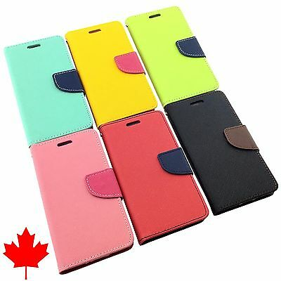"""LG Nexus 5 High Quality Leather Flip Wallet Case with Credit Card Slots 4.95"""""""