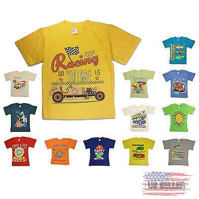 T Shirt Print Kids Boys Girls Baby 100% Cotton with defects 1 2 3 4 5 6 7 Years