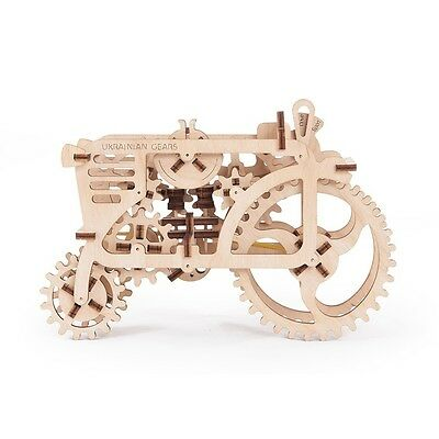 3D Mechanical Puzzle TRACTOR, wooden DIY construction kit woodcraft moving model