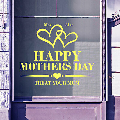 Mothers Day Wall & Window Stickers Mom Mother Decals Shop Window Display A340