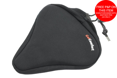 BIG BUM GEL EXTRA WIDE BIKE CYCLE SEAT SADDLE COVER UNISEX COMFORT SOFT 25x24cm