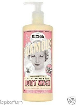 Soap & Glory Rich & Foamous Shower Gel/body Wash & Bubble Bath Foam 500ml