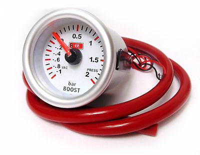 Universal 52mm Turbo Boost Gauge Meter -1 to 2 Bar Pressure (SRL/RDH)