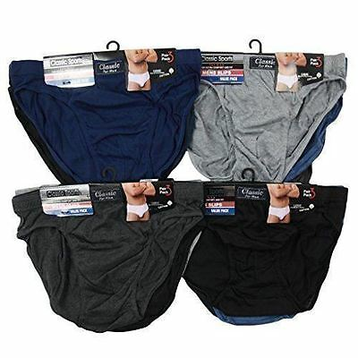 Pack Of 3 6 9 12 Mens Briefs Slips Classic Underwear Pants Hipster Cotton S-2Xl