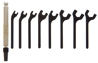 9 Pc. Interchangeable Metric Open End Wrench Set; 1hdl, 8Bl