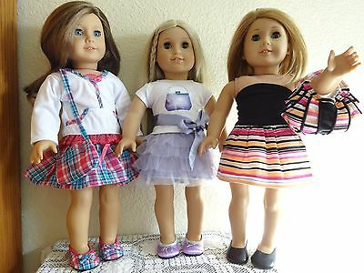 """NEW-DOLL CLOTHES -Lot #182 Dress/Skirt/Shoes Sets fit 18"""" Doll such as AG Dolls"""