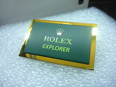 NEU ROLEX   EXPLORER   Aufsteller ORIGINAL Schild Logo Emblem EXLUSIV Display
