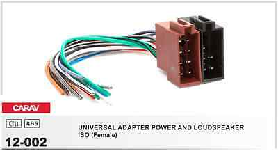 CARAV 12-002 ISO (Female) / UNIVERSAL ADAPTER POWER AND LOUDSPEAKER
