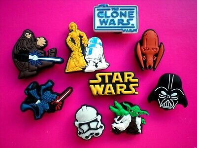 Clog Shoe Charm Button Plug Fit Holey Acessories Bands 9 STAR WARS