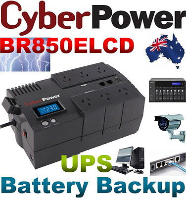 NEW CyberPower BR850ELCD UPS 850VA 510W Battery Power Backup Surge Protection