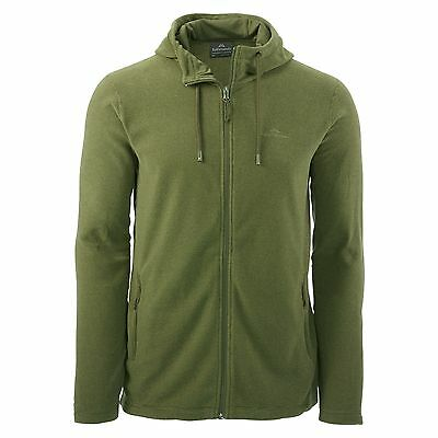 Kathmandu Tauro Mens Regular Fit Full Zip Hoodie Fleece Hooded Jacket Green