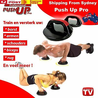 PUSH UP PRO PERFECT Ultimate Abs Gym Chest Fitness Exercise Grips Bar Upper Body