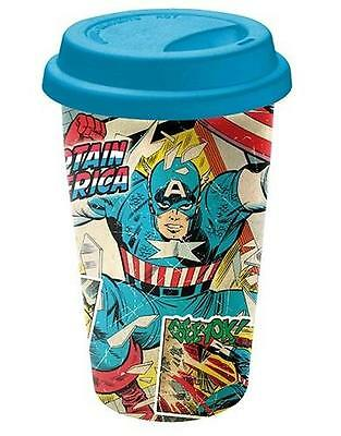 Captain America Ceramic Travel Mug Marvel Avengers Cup with Lid
