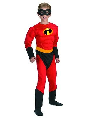 Childs Boy's Disney The Incredibles Dash Muscle Chest Costume Small 4-6