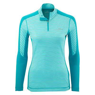 Kathmandu thermaPLUS Womens Polartec Long Sleeve High Neck 1/4 Zip Top Blue
