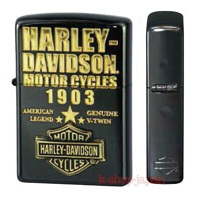 2016 New Arrival ZIPPO Harley Davidson Limited Model HDP-52 Gold 1903 Logo Black