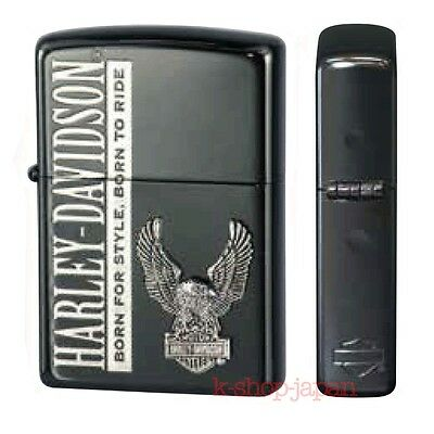 2016 New ZIPPO Lighter Harley Davidson Limited Model HDP-53 Black ion Silver