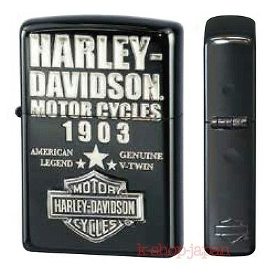 New '16 ZIPPO Lighter Harley Davidson Limited Model HDP-55 Black ion Silver Logo