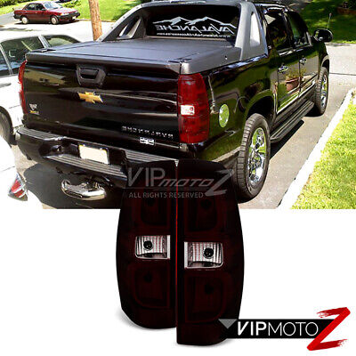 07-13 Chevy Avalanche [Smoke Tinted] Left Right Set Rear Brake Tail Lights Lamps