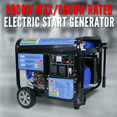 Gasoline Petrol Generator 15HP, 4 Stroke Air-cooled, Electric Start, 6600W, New