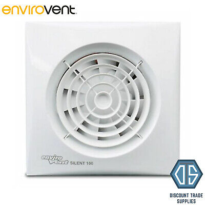 "Envirovent SIL100S ""SILENT"" Extractor Fan for Bathroom or Kitchen 4"" 100mm"