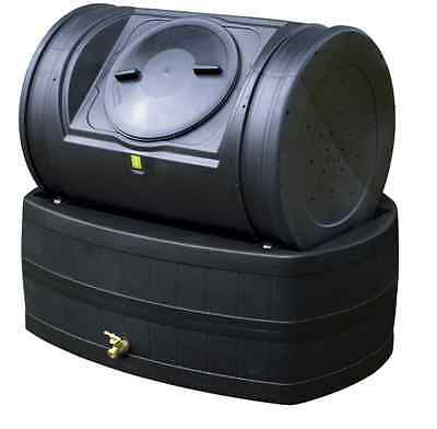 New 7-cu ft Plastic Combination Composter and Rain Barrel Composter Outdoor Lawn