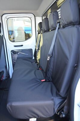 Pleasing Tailored Black 4 Rear Bench Seat Covers For Ford Transit Mk8 Uwap Interior Chair Design Uwaporg