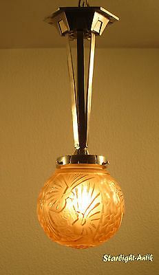 Beautiful French Art Deco Ceiling Lamp 1925 - Signed: Muller Freres Luneville