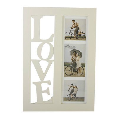 LOVE Multi Photo Frame Wall Hanging Aperture Picture Engagement Wedding Gift