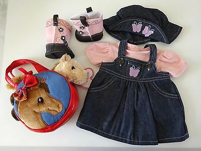 """NEW-DOLL CLOTHES-Lot #184 Cowgirl Dress/Boots/Purse fit 18""""Doll such as AG Doll"""