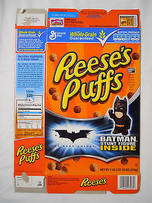 2008 General Mills Reese's Puffs Cereal Box-The Dark Knight-Batman