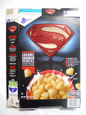 2015 General Mills Superman Caramel Crunch Cereal Box-Batman v Superman