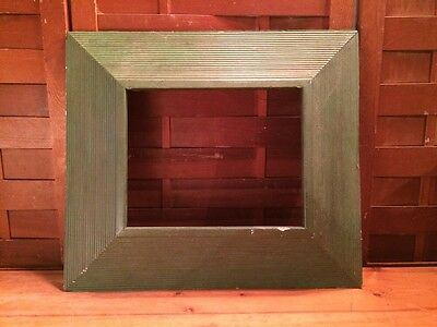 "Antique Vintage Green Wood Picture Frame 17"" X 15"""