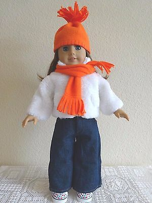 """NEW-DOLL CLOTHES_PANTS//COAT/BOOTS Set fits 18""""Doll such as  AG Dolls-Lot #185"""