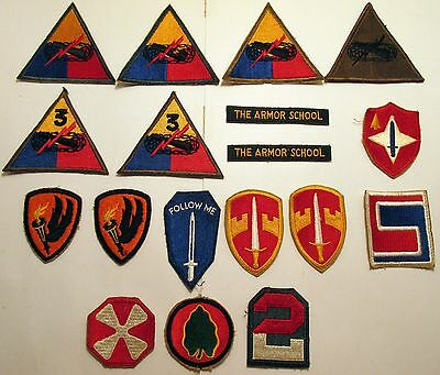 Lot of 18 Original Vintage NOS WWII, Korea, Vietnam, U.S. Army shoulder patches
