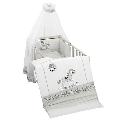 Alvi Himmelset/Bettset mit Applikation Rocking Horse grau 634-9 - 3