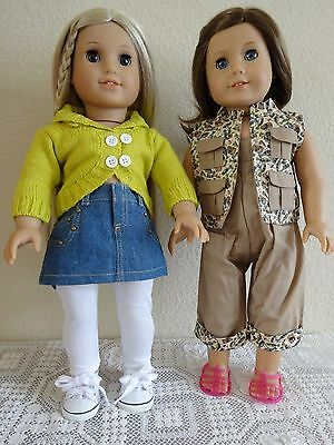 """NEW-DOLL CLOTHES-Skirt Set & Fishing Outfit fit 18""""Doll such as AG Doll-Lot #187"""