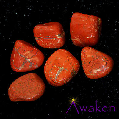 *ONE* RED JASPER Natural Tumbled Stone Approx 15-20mm *TRUSTED SELLER*