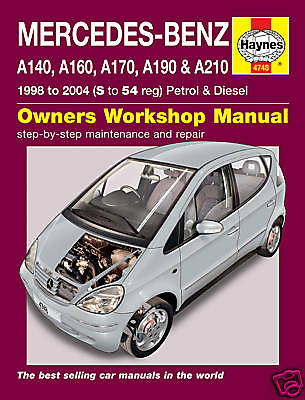 Mercedes A-Class W168 Serie A170 Diesel Haynes Manuale 4748 NUOVO