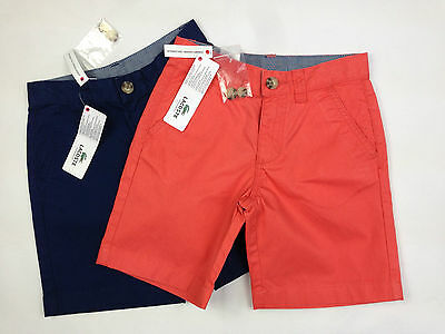 Designer LACOSTE Boys Summer Shorts Chino Style 2 colours various sizes SALE!!
