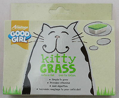 Good Girl Kitty Grass Simply Add Water For Fresh Green Roughage For Indoor Cats