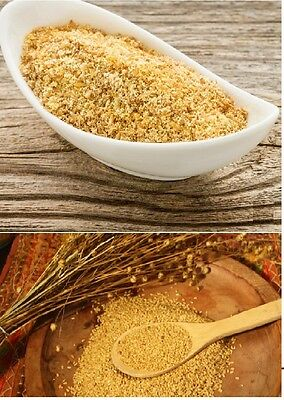 Ground Flaxseed Powder Dark Gold Fine Cold Milled Linseed Gluten Free High Fibre