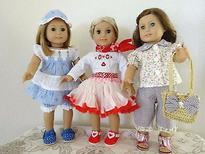 """NEW-DOLL CLOTHES -Lot #189 Pants/Skirt/Shoes Sets fit 18"""" Doll such as AG Dolls"""