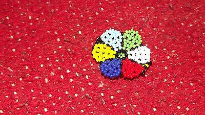 Mexican Huichol beaded flower ring