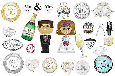Large Helium Quality Foil Balloons Engagement,Wedding,Anniversary Decoration