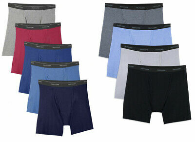 Fruit Of The Loom Boxer Briefs 9 In A Pack Asst Colors 100% Cotton