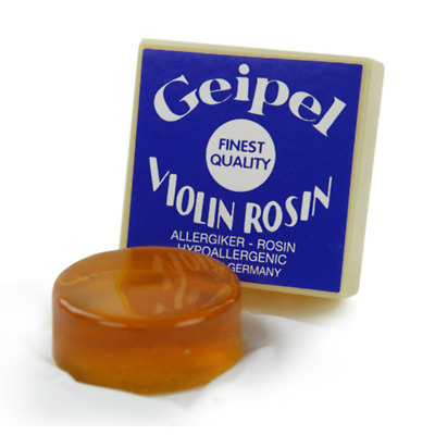 Geipel Hypoallergenic Rosin for Violin or Viola Bows MADE IN GERMANY