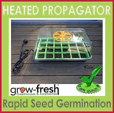 Heated Electric Propagator Mini Greenhouse Hothouse Seeds Seedlings Plants