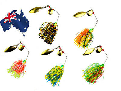 5X Bass COD Yellowbelly Trout Spinnerbait Fishing Lures 1/2 OZ Willow Colorado